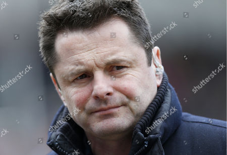 TV Presenter Chris Hollins during the Aviva Premiership Rugby League match between Leicester Tigers and Saracens played at Welford Road Stadium, Leicester on March 20th March 2016