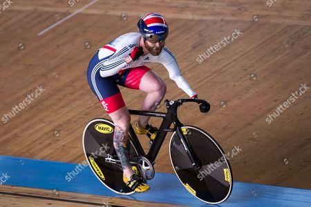 Great Britain's Jon-Allan Butterworth celebrates winning Gold (alongside Jody Cundy and Louis Rolfe) in the Team Sprint Finals.