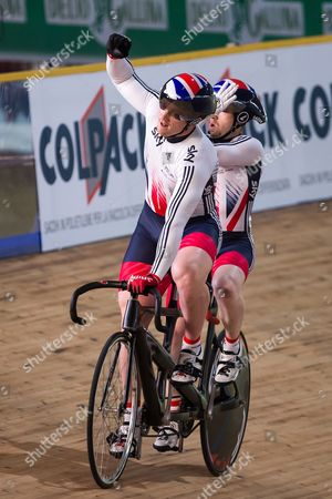Great Britain's Neil Fachie and Peter Mitchell win Gold in the Men's Sprint Final.
