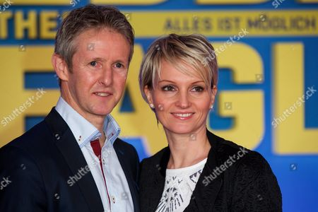 Stock Photo of Jens Weissflog and wife Doreen