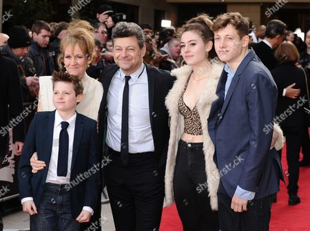 Andy Serkis, Lorraine Ashbourne with children Ruby, Sonny and Louis