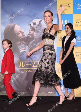 Jacob Tremblay, Brie Larson and Miho Kanno