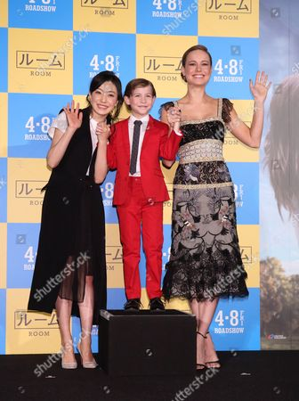 Stock Image of Miho Kanno, Jacob Tremblay and Brie Larson