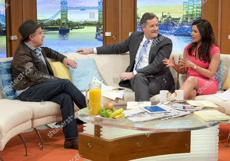 Martin Daniels with Piers Morgan and Susanna Reid
