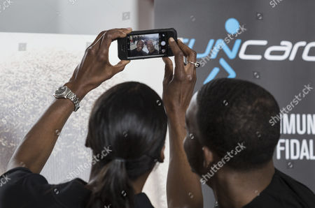 Fiona May and Stephan James taking a selfie