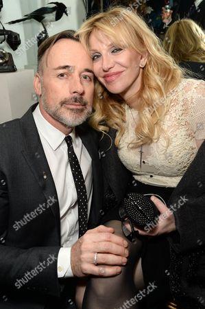 David Furnish and Courtney Love