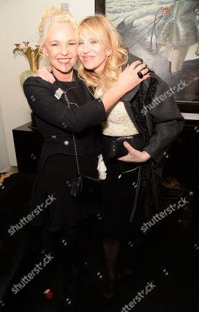 Amanda Eliasch and Courtney Love