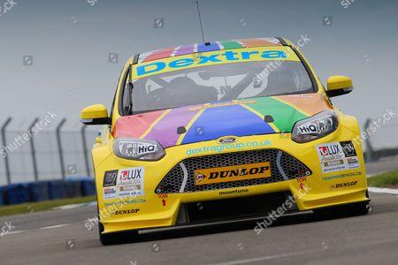 #14 Alex Martin - Ford Focus - Dextra Racing with Team Parker. BTCC season launch media day at Donington Park, Castle Donington