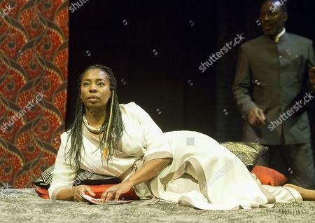 Tanta Moodie as Gertrude, Cyril Nri as Polonius