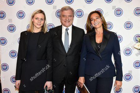 Carole Uzan of the Team Dior with Sidney Toledano and Katia Toledano