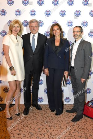 Catherine Madar, Vice President of SSF, with Sidney Toledano, Katia Toledano and Arie Levy, President of SSF