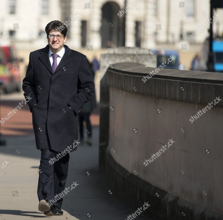 Lord Feldman leaving cabinet meeting via the rear entrance at Downing Street