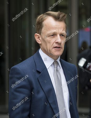 Stock Photo of David Laws leaves BBC Broadcasting House