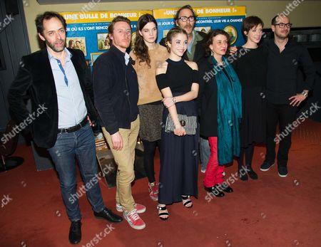 Director Julien Rappeneau, Nicolas Bridet, Camille Rutherford, Alice Isaaz, Philippe Rebbot, Noemie Lvovsky, Sara Giraudeau and Kyan Khojandi