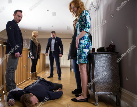 Spotting the break-in, the O'Driscolls enter their house with trepidation. They're furious to find Billy Mayhew, Daniel Brocklebank, and Eva Price, Catherine Tyldesley, there, about to make their escape with Marta, EDYTA BUDNIK,. Billy threatens to call the police and have the O'Driscolls arrested on kidnap charges but Richie, James Midgley, grabs the phone and shoves Eva up against a wall. Aidan Connor, Shayne Ward, suddenly arrives and comes to Eva's rescue by punching Richie.