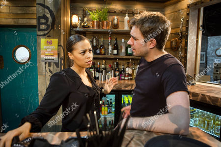 Steph Britton, Tisha Merry, is unimpressed to discover she has to work on her 21st birthday because Andy Carver, Oliver Farnworth, forgot to book the evening off, she's also underwhelmed by his choice of gift.