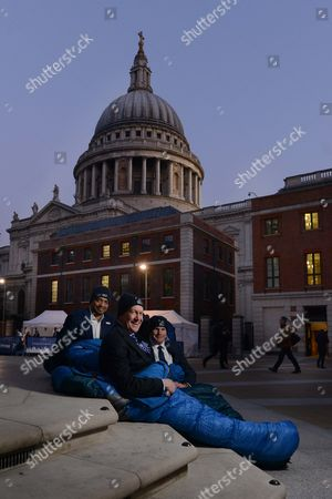 Editorial picture of CEO's Sleepout for Action For Children, London, Britain - 17 Mar 2016