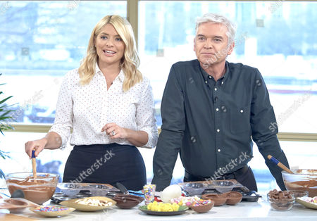 Paul A Young with Holly Willoughby and Phillip Schofield