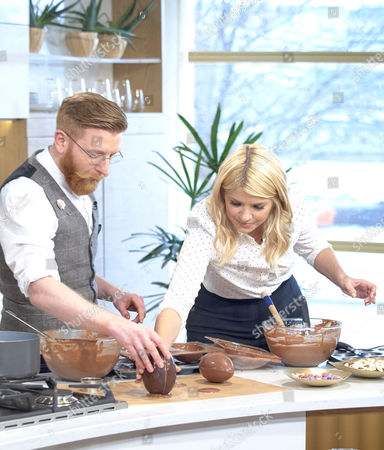 Paul A Young with Holly Willoughby