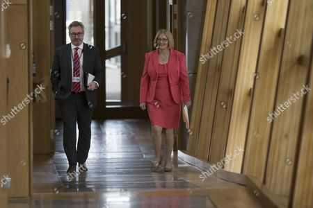 Rt Hon Tricia Marwick, The Presiding Office of The Scottish Parliament, makes her way to the Debating Chamber for the last time before her retiral