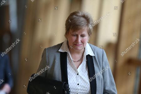 Annabel Goldie makes her way to the Debating Chamber for one last time before her retiral