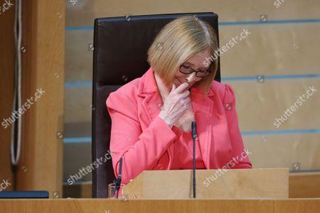 Editorial picture of Dissolution of Parliament group, Scottish Parliament, Edinburgh, Scotland, Britain - 23 Mar 2016