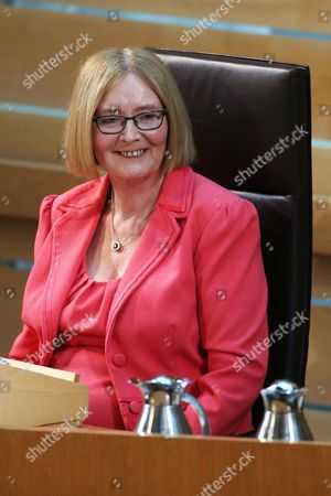 Stock Photo of Motion of Thanks before the Dissolution of Parliament - Rt Hon Tricia Marwick, The Presiding Office of The Scottish Parliament