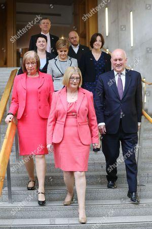 Editorial image of Dissolution of Parliament group, Scottish Parliament, Edinburgh, Scotland, Britain - 23 Mar 2016