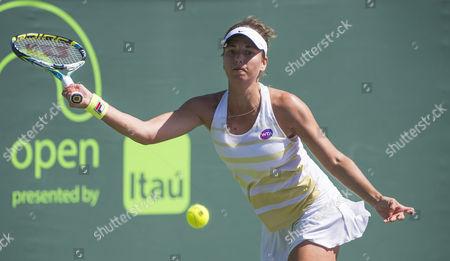 Petra Cetkovska of the Czech Republic in action at the Miami Open at Crandon Park, Key Biscayne, Miami, Florida, USA.