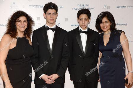 Hanan Kattan, Ethan Sarif-Kattan, Luca Sarif-Kattan and Shamim Sarif