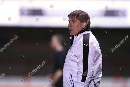 U21 Newcastle United head coach Peter Beardsley during the Barclays U21 Premier League match between U21 Brighton and Hove Albion and U21 Newcastle United at the Checkatrade.com Stadium, Crawley
