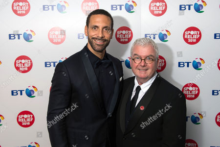 Rio Ferdinand and Comic Relief CEO Kevin Cahill