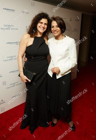 Producer, Hanan Kattan (L) with guest
