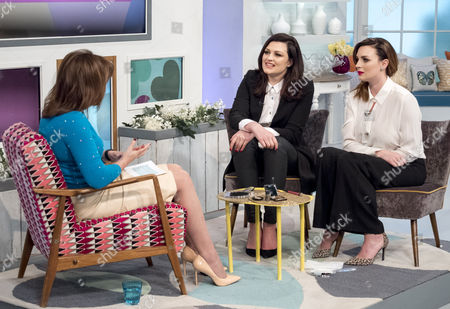 Lorraine Kelly with Pixiwoo - Samantha Chapman and Nic Haste
