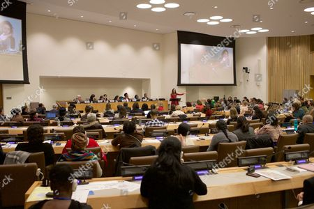 Editorial picture of Tasha Sandra Mota e Cunha de Vasconcelos at the United Nations, New York, America - 17 Mar 2016
