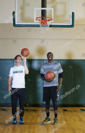 Andy Murray and Luol Deng