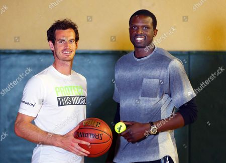 Stock Picture of Andy Murray and Luol Deng