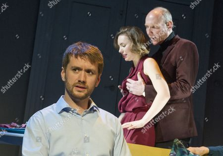 Stock Picture of Sean Biggerstaff as Ben,  Lindsey Campbell as Alice, Guy Williams as Giles