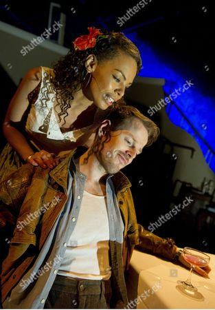 Stock Photo of Sasha Frost as Anita, Simon Darwen as Philip Rawlings ©Alastair Muir 24.03.16