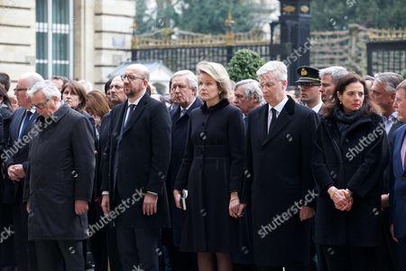 Jean-Claude Juncker, Charles Michel, Queen Mathilde, King Philippe, Christine Defraigne