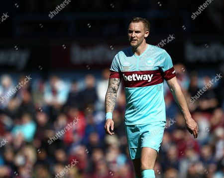 Stock Photo of Jack Collison of West Ham United All-Stars  during the Mark Noble Testimonial  match between West Ham United and West Ham United All Stars    played at Boleyn Ground , London on 28th March 2015