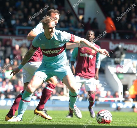 Stock Image of Jack Collison for West Ham United All Stars during Mark Noble Testimonial West Ham United v West Ham United All-Stars Monday at Upton Park Boleyn Ground London 
