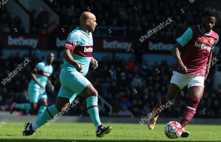 Trevor Sinclair for West Ham United All Stars during Mark Noble Testimonial West Ham United v West Ham United All-Stars Monday at Upton Park Boleyn Ground London 