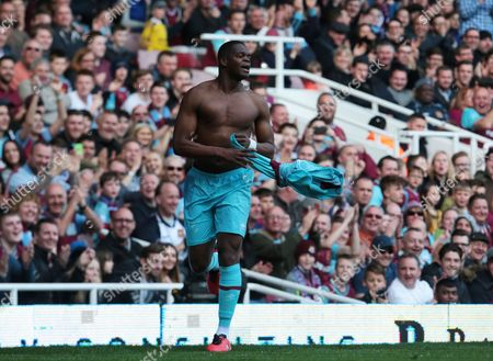 Marlon Harewood for West Ham United All Stars  during Mark Noble Testimonial West Ham United v West Ham United All-Stars Monday at Upton Park Boleyn Ground London  29th March 2016