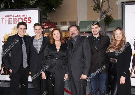 Elizabeth Perkins and Julio Macat with their children