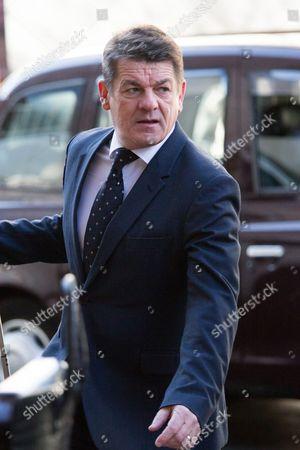 Stock Image of Newcastle caretaker manager John Carver arriving at the tribunal