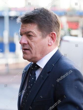 Stock Photo of Newcastle caretaker manager John Carver arriving at the tribunal