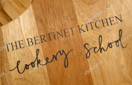 The Bertinet Kitchen, Cookery School in Bath, Somerset, UK, bread making course with chef/tutor Ben Peel (chef's white jacket).
