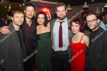 Stock Picture of Alec Newman (Jerry Goss), James Norton (Peter), Kate Fleetwood (Agnes), Simon Evans (Director), Daisy Lewis (Ronnie) and Carl Prekopp (Dr Sweet)
