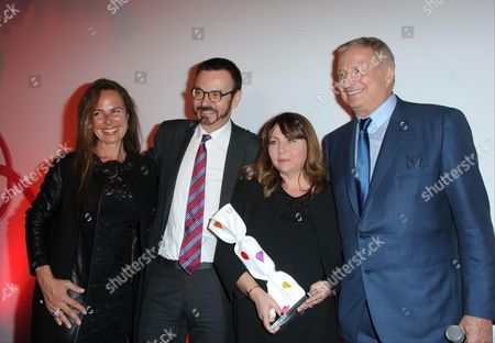 Christian Courtin-Clarins, Oliver Courtin-Clarins and Muriel Hattab